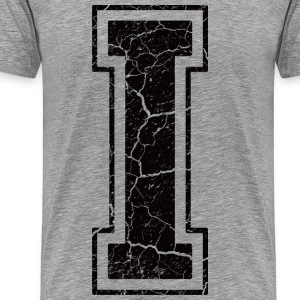 Letter I in the grunge look T-Shirts - Men's Premium T-Shirt