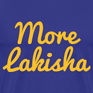 Design ~ More Lakisha t-shirt yellow/blue