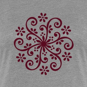 Wheel of Fortune - Mehndi Blüten Ornament T-Shirts - Frauen Premium T-Shirt