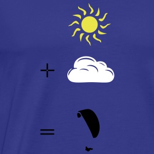 Paragliding calculation T-shirts - Herre premium T-shirt