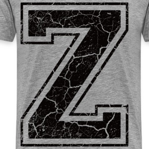 Letter Z in grunge look Tee shirts - T-shirt Premium Homme