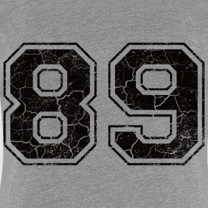 Number 89 in the grunge look T-Shirts - Women's Premium T-Shirt