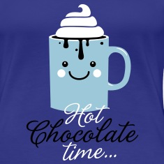 Funny cute mug with i love hot chocolate with sweet cream time slogan in cold snow freezing fall winter t-shirts for geek chic, trendy girls, gift friend christmas mothersday valentine's day T-Shirts