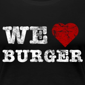 we_love_burger_vintage_hell T-shirts - Premium-T-shirt dam