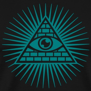 all seeing eye -  eye of god / pyramid - symbol of Omniscience & Supreme Being T-shirts - Herre premium T-shirt