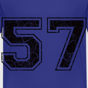 Number 57 in the grunge look Shirts - Kids' Premium T-Shirt