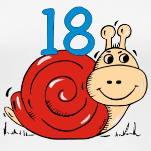 Snail 18 th birthday T-Shirts - Women's Premium T-Shirt