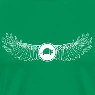 Design ~ Banoop Logo with Wings - Mens T-Shirt -Khaki