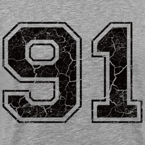 Number 91 in the grunge look T-Shirts - Men's Premium T-Shirt