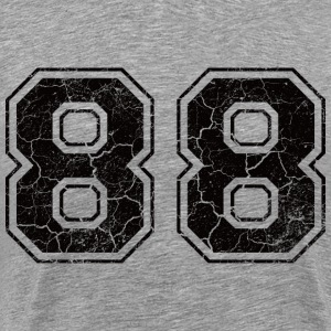 Number 88 in the grunge look T-Shirts - Men's Premium T-Shirt