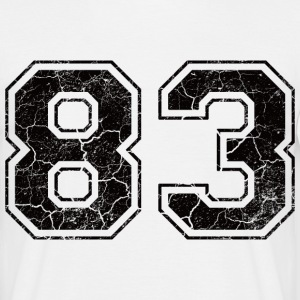 Number 83 in the grunge look T-Shirts - Men's T-Shirt