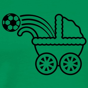 born_to_play_soccer T-shirts - Herre premium T-shirt