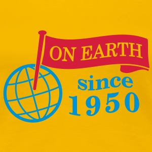 flag on earth since 1950  2c (sv) T-shirts - Premium-T-shirt dam