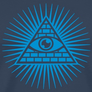 all seeing eye -  eye of god / pyramid - symbol of Omniscience & Supreme Being T-skjorter - Premium T-skjorte for menn