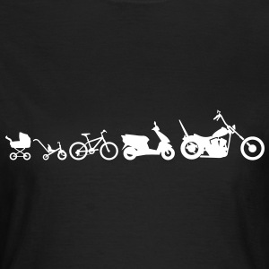 Motorcycle Evolution Chopper  T-shirts - Vrouwen T-shirt