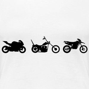 Chopper motorcykel racing Endurocross  T-shirts - Premium-T-shirt dam