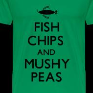 Design ~ Fish Chips and Mushy Peas T-Shirt