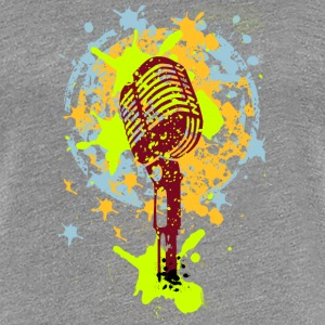 vintage microphone love music graffiti T-Shirts - Women's Premium T-Shirt