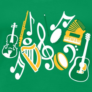 Irish Musical Instruments T-Shirts - Women's Premium T-Shirt