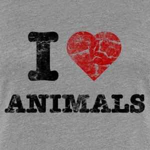 i_love_animals_vintage T-Shirts - Frauen Premium T-Shirt