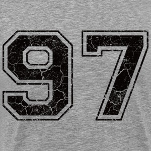 Number 97 in the grunge look T-Shirts - Men's Premium T-Shirt