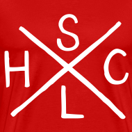 Design ~ SLHC X t-shirt burgundy