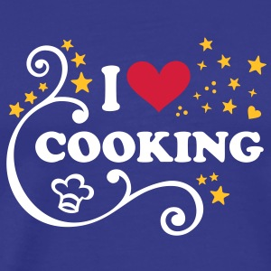 I love Cooking Chef´s hat Cook Chef I heart T-Shi - Men's Premium T-Shirt