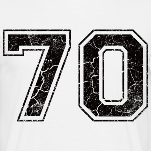 Number 70 in the grunge look T-Shirts - Men's T-Shirt