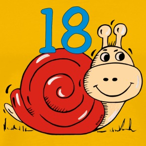 Snail 18 th birthday T-Shirts - Men's Premium T-Shirt