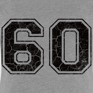 Number 60 in the grunge look T-Shirts - Women's Premium T-Shirt