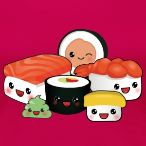 happy Sushi Family T-Shirts - Frauen Premium T-Shirt