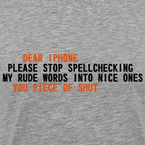 Iphone spell checker T-Shirts - Men's Premium T-Shirt