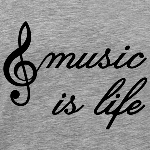 music is life Clef Musik er liv. Treble Clef T-shirts - Herre premium T-shirt