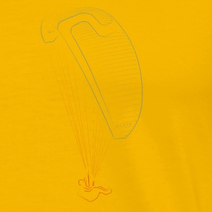 Line drawing sky paraglider color T-Shirts - Men's Premium T-Shirt