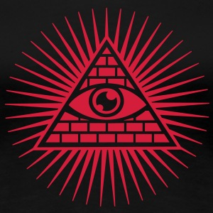 all seeing eye -  eye of god / pyramid - symbol of Omniscience & Supreme Being T-Shirts - Women's Premium T-Shirt