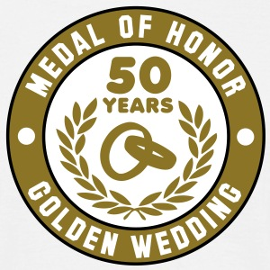 MEDAL OF HONOR 50th GOLDEN WEDDING 3C T-Shirt - Mannen T-shirt