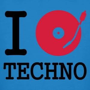 :: I dj / play / listen to techno :-: - Camiseta ecológica hombre