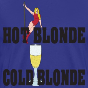 hot blonde cold blonde T-skjorter - Premium T-skjorte for menn