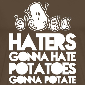 haters gonna hate potatoes gonna potate T-skjorter - Premium T-skjorte for menn