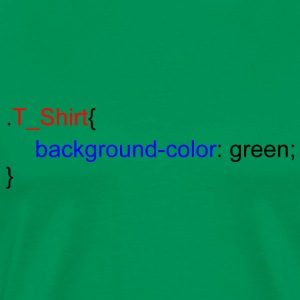 CSS Background green - T-shirt Premium Homme