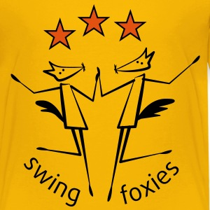 swingfoxies - goldstar 3 - Kinder Premium T-Shirt