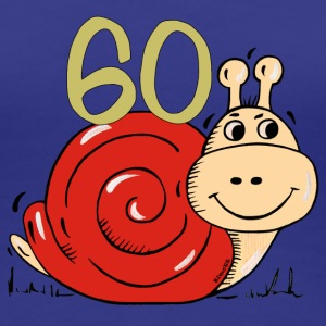 Snail 60 th birthday T-Shirts - Women's Premium T-Shirt