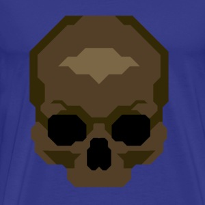 Pixelated Skull - Herre premium T-shirt
