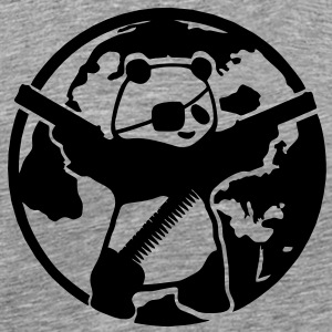banksy panda save the world - Men's Premium T-Shirt