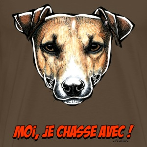 Le Jack Russell, Moi Je Chasse Avec ! Tee shirts - T-shirt Premium Homme