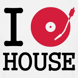 :: I dj / play / listen to house :-: - Herre-T-shirt