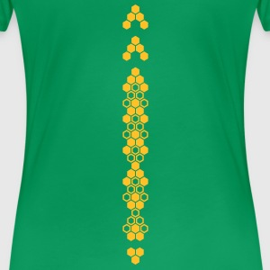 'Honeycomb' Women's Girlie Shirt - Women's Premium T-Shirt