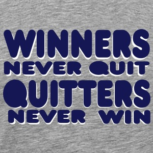winners never quit T-skjorter - Premium T-skjorte for menn