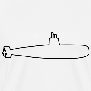 submarine bomber outline simple T-Shirts - Men's Premium T-Shirt