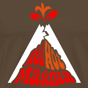 Volcanology: Red Hot Magma w/ eruption T-Shirts - Men's Premium T-Shirt